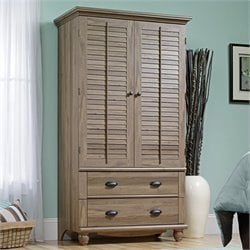 Sauder Harbor View Armoire in Salt Oak