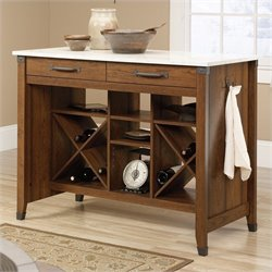 Sauder Carson Forge Kitchen Stand in Washington Cherry
