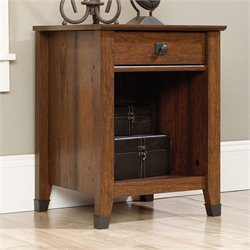 Sauder Carson Forge Nightstand in Washington Cherry