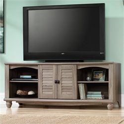 Sauder Harbor View Entertainment Credenza in Salt Oak