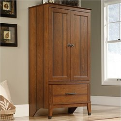 Sauder Carson Forge Armoire in Washington Cherry