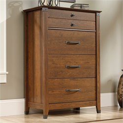 Sauder Carson Forge Chest in Washington Cherry