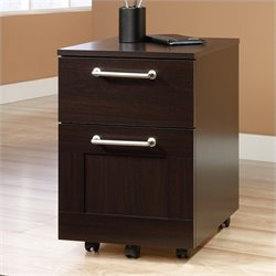 Sauder Town File Cart in Jamocha Wood