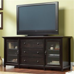 Sauder Edge Water Credenza in Estate Black