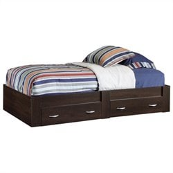 Sauder Beginnings Twin Platform Bed in Cinnamon Cherry