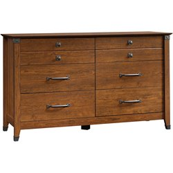 Sauder Carson Forge Dresser in Washington Cherry