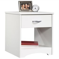 Sauder Beginnings Nightstand in Soft White