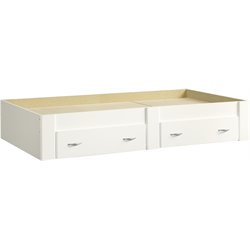 Sauder Beginnings Twin Platform Bed in Soft White