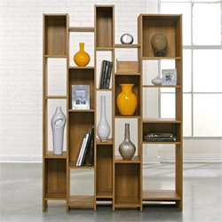 Sauder Soft Modern Wall Shelf in Pale Oak