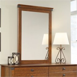 Sauder Carson Forge Mirror in Washington Cherry