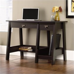 Sauder Trestle Desk in Jamocha Wood