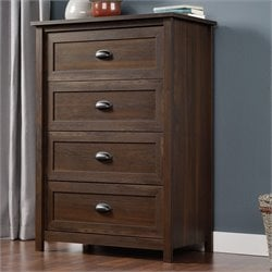 Sauder County Line Chest in Rum Walnut
