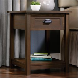 Sauder County Line Nightstand in Rum Walnut
