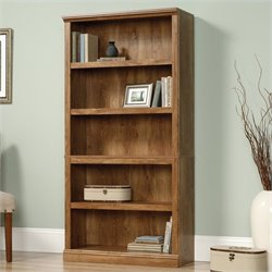 Sauder 5 Shelf Bookcase in American Chestnut