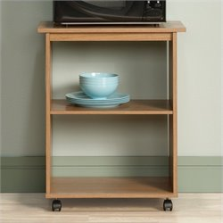 Sauder Beginnings Utility Cart in Highland Oak