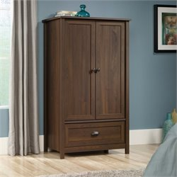 Sauder County Line Armoire in Rum Walnut