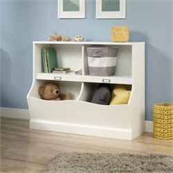 Sauder Storybook 4 Shelf Bookcase in Soft White