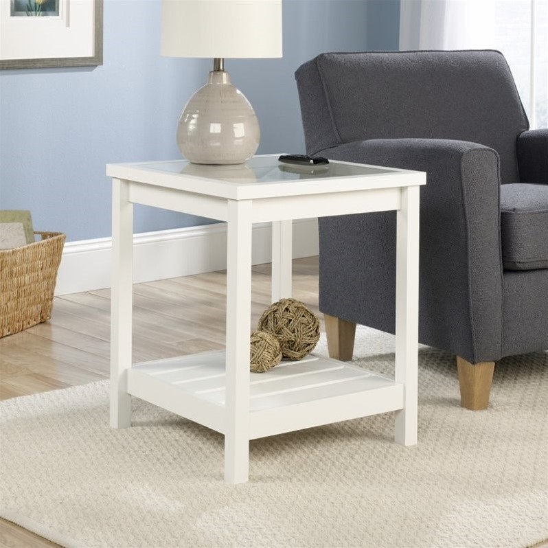 End Table In Soft White 416136