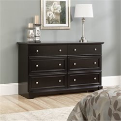 Sauder Avenue Eight 6 Drawer Dresser in Wind Oak