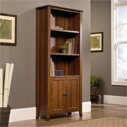 Sauder Carson Forge 3 Shelf Bookcase in Washington Cherry