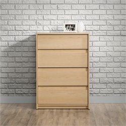 Sauder Square1 4 Drawer Chest in Urban Ash