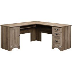 L Shaped Computer Desk in Salt Oak