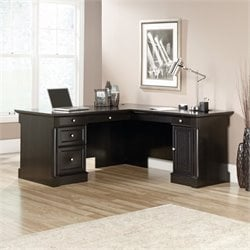 L Shaped Desk in Wind Oak
