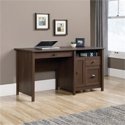 Sauder County Line Computer Desk in Rum Walnut