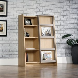 4 Shelf Display Bookcase in Urban Ash