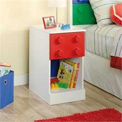 Kids Nightstand in Soft White