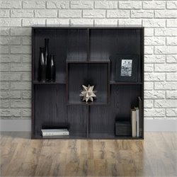 Sauder Square1 5 Shelf Storage Unit in Carbon Ash