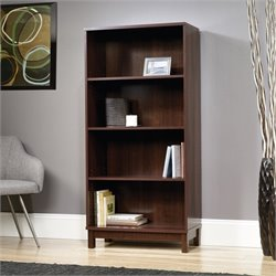 Sauder Kendall 4 Shelf Bookcase in Select Cherry