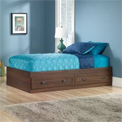 Sauder County Line Twin Mates Bed in Rum Walnut