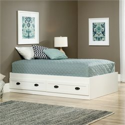 Twin Mates Bed in Soft White