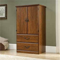 Sauder Orchard Hills Armoire in Milled Cherry