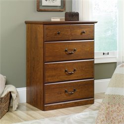 Sauder Orchard Hills 4 Drawer Chest in Milled Cherry