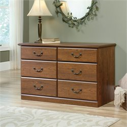Sauder Orchard Hills 6 Drawer Dresser in Milled Cherry