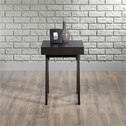Sauder Square1 End Table in Carbon Ash