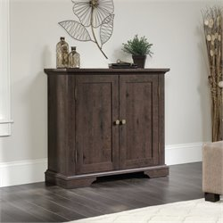 Sauder New Grange 2 Door Chest in Coffee Oak