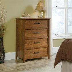 Sauder Cannery Bridge 4 Drawer Chest in Milled Cherry