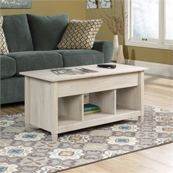Sauder Edge Water Lift Top Coffee Table in Chalked Chestnut