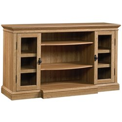 Sauder Barrister TV Stand in Scribed Oak