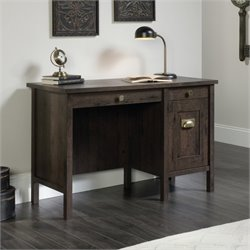 Home Office Desk in Coffee Oak