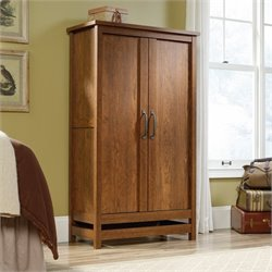 Sauder Cannery Bridge Wardrobe in Milled Cherry