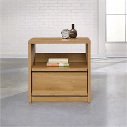Sauder Soft Modern Nightstand in Pale Oak