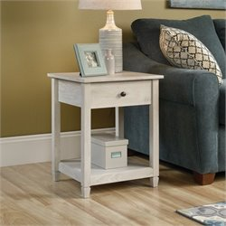 Sauder Edge Water End Table in Chalked Chestnut