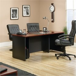 Sauder Via Executive Desk in Classic Cherry