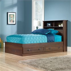 Sauder County Line Twin Mates Bookcase Bed in Rum Walnut