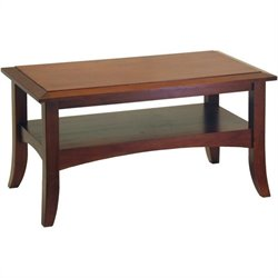 Rectangle Wood Coffee Table in Antique Walnut