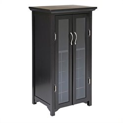 Winsome 20 Bottle Wine Cabinet with French Doors in Espresso